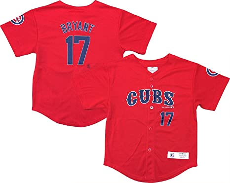 huge selection of 5ca9e 1149f Amazon.com: Outerstuff Kris Bryant Chicago Cubs #17 Red ...