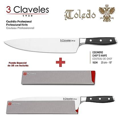 Compra 3 Claveles - Pack de Cuchillo Profesional en Acero ...