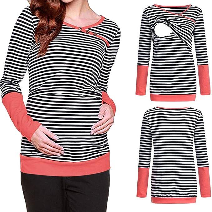 aef697df6904c Womens Pregnant Hoodies Blouse Cute Baby Print Long Sleeve Pullover Tops  Maternity Nursing Sweatshirt Tops Daorokanduhp Shops
