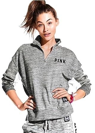 Victoria's Secret PINK Quarter Zip Slouchy Pullover Sweatshirt ...