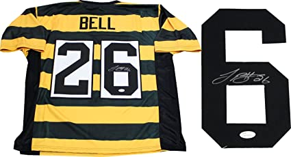 purchase cheap f50cf a491b Leveon Bell Autographed Pittsburgh Steelers Throwback Jersey ...