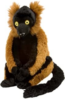 Wild Republic Red Ruffed Lemur Plush, Stuffed Animal, Plush Toy, Gifts for Kids