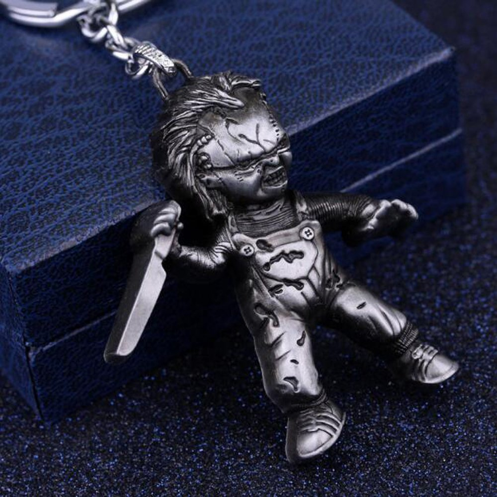ZJWEI Creative Motorcycle Bicycle Seed of Chucky Key Chain Ring Keychain Keyring Key Fob 1pc