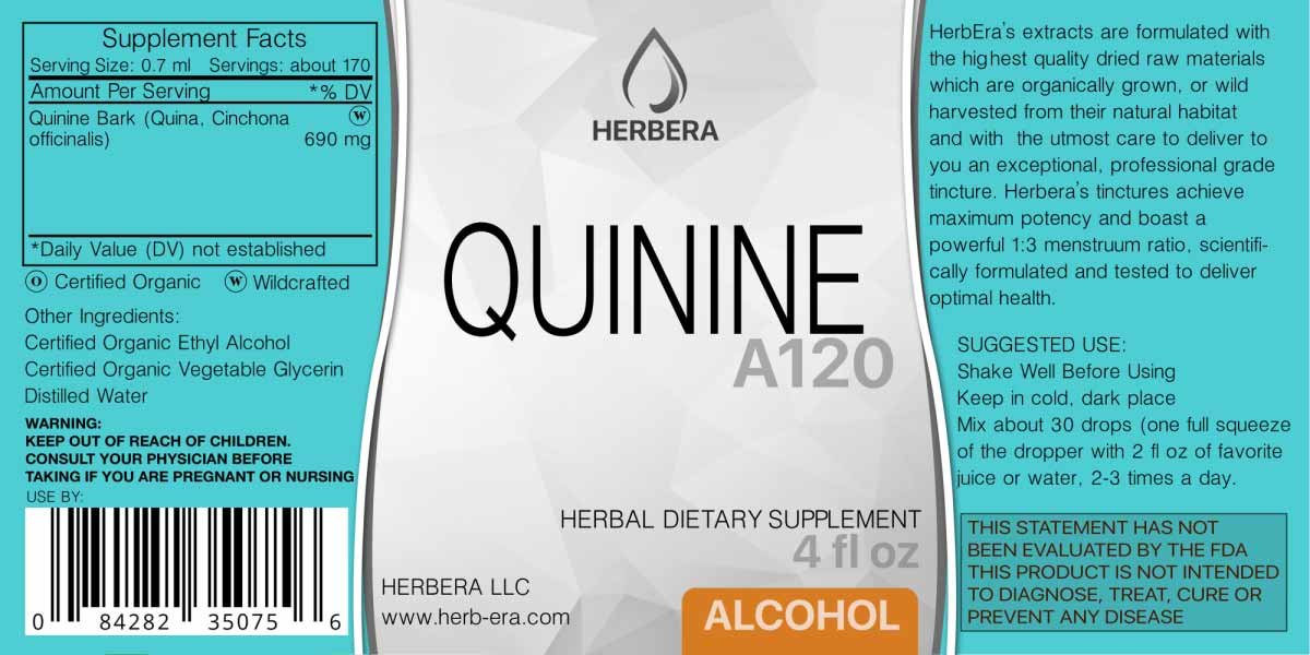 Amazon.com: Quinine A120 Alcohol Herbal Extract Tincture, (Quina, Cinchona officinalis) Dried Bark (4 fl oz): Health & Personal Care