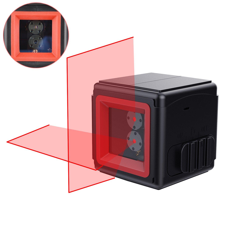 VORSTEK Red Laser Level Self-Leveling Horizontal and Vertical Cross-Line Laser,Laser levels for construction(Battery Included)