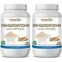 Ashwagandha 180 Capsulas (2 Frascos de 90) SuperVida Nutrition