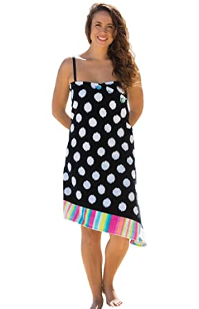 a588a4bef7 Simple Sarongs Women's Beach Towel Swimsuit Cover-up Wrap All-in-One Black  Polka Dot at Amazon Women's Clothing store:
