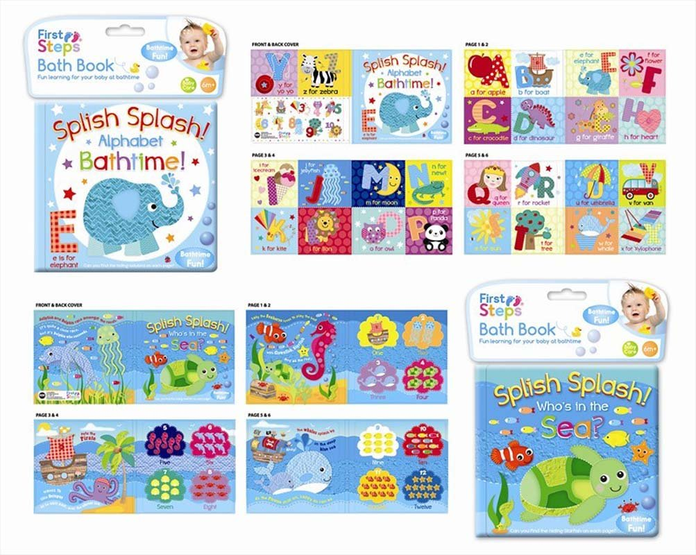 SOFT BABY BATH BOOK EDUCATIONAL TOY 6 MONTHS WATERPROOF SEA AND ...