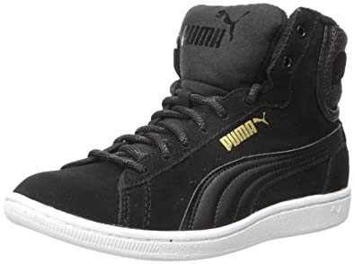new styles bbbd8 db2f0 PUMA Women s Vikky Mid Twill Sfoam Fashion Sneaker, Puma Black Puma Black,  11