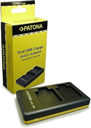 PATONA Cargador Doble para NB-6L Bateria Compatible con Canon Ixus 85 IS IXY Digital 25 IS PowerShot SD770 IS