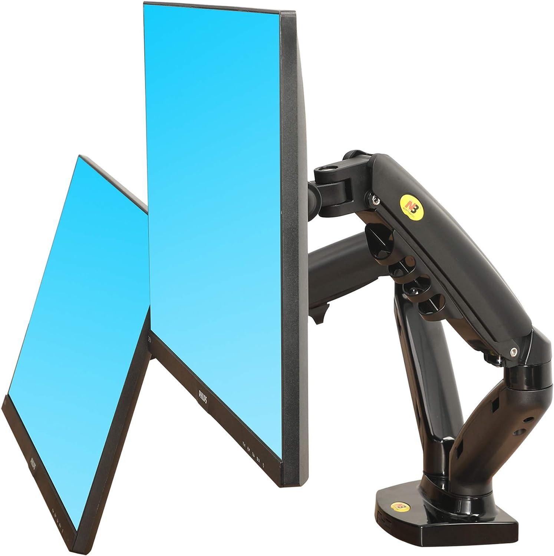 NB F160 -Soporte giratorio de escritorio con resorte de gas para pantallas TV LCD 17