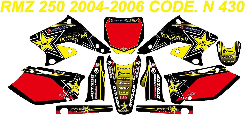 ROCKSTAR SUZUKI RMZ 250 2004-2006 DECAL STICKER GRAPHIC KIT