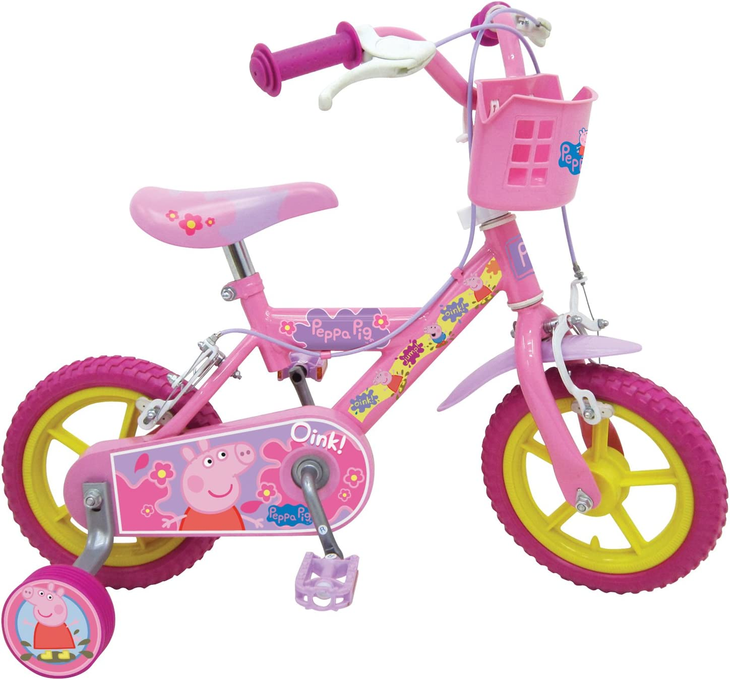 Peppa Pig 332/4549 - Bicicleta, Rueda 12 in, Color marrón: Amazon ...