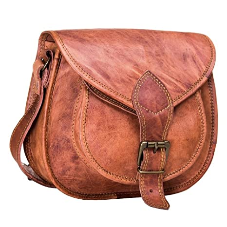 24150b586abf Amazon.com  Urban Leather Saddle Bag Purse for Women and Girls ...