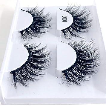 82f392e6e96 Amazon.com : 3d mink eyelashes hand made makeup false eyelash natural long  eyelash extension 1 box 2 pairs eyelashes, 1007 : Beauty