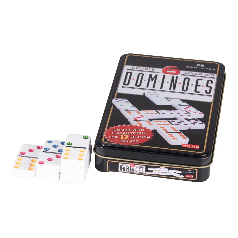 Coloured Dots Dominoes 28 Pcs Amazon Toys Games