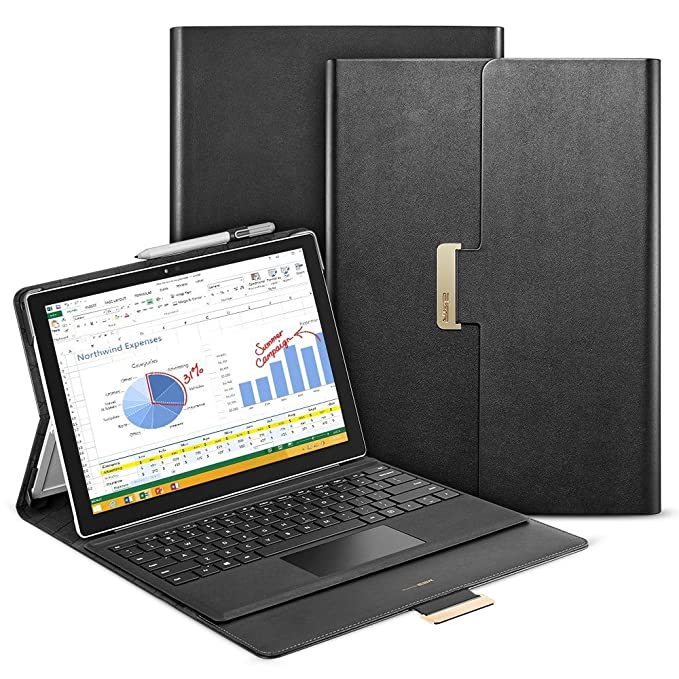 ESR Case for The Surface Pro 6 (2018)/Surface Pro (2017)/Pro 4 (2015),  Multi-Angle Business Cover with Pen Holder [Magnetic Lock Design]  Compatible