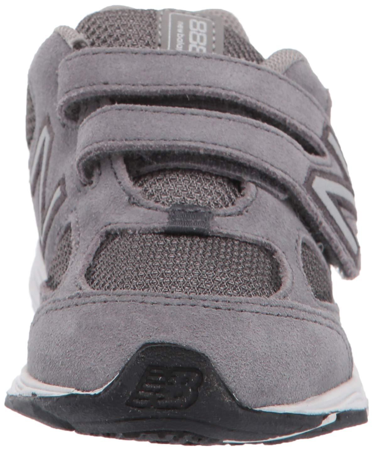 New Balance Boys' 888v2 Hook and Loop Running Shoe, Dark Grey, 2 M US Infant by New Balance (Image #4)