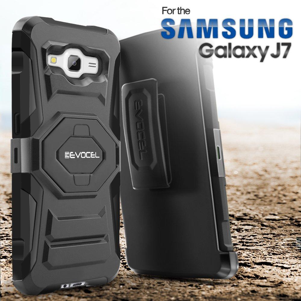 best website b3a2d 7ad35 Galaxy J7 (2015) Case, Evocel [New Generation Series] Belt Clip Holster,  Kickstand, Dual Layer for Samsung Galaxy J7 (Model No J700), Yellow ...