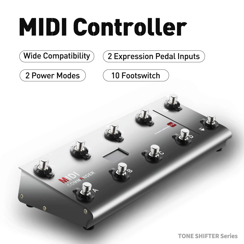 MeloAudio MIDI Commander Guitar Portable USB MIDI Foot Controller