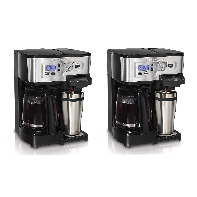 Hamilton Beach 2-Way FlexBrew 1 to 12 Cup Coffeemaker (Certified Refurbished) (2 Pack)
