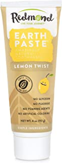 product image for Redmond Earthpaste - Natural Non-Fluoride Toothpaste, 4 Ounce Tube (3 Pack, Lemon Twist)