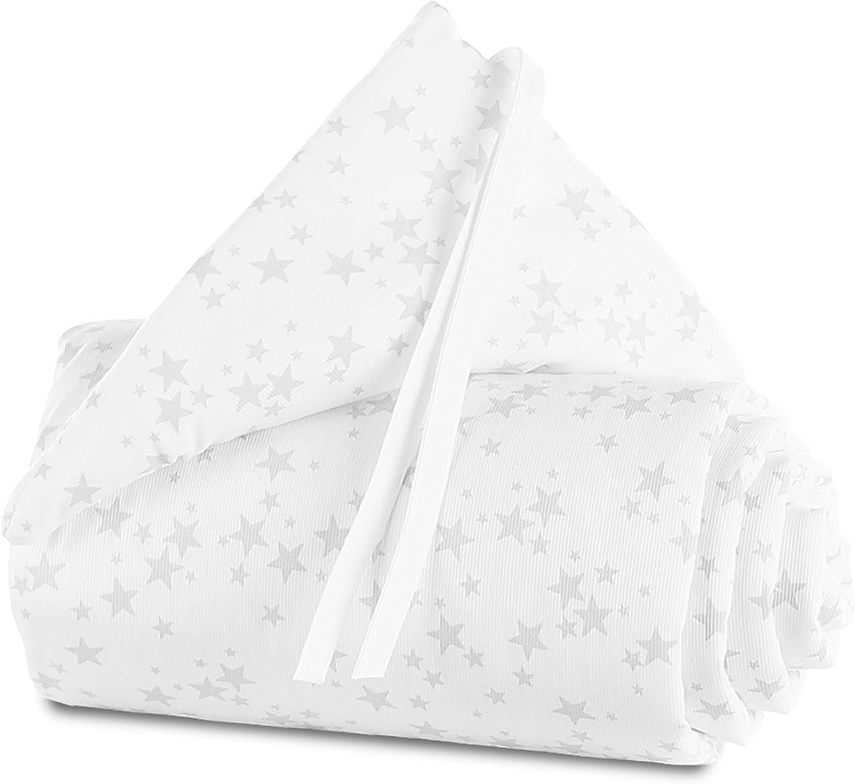 color blanco con estrellas gris perla Babybay Original Nido