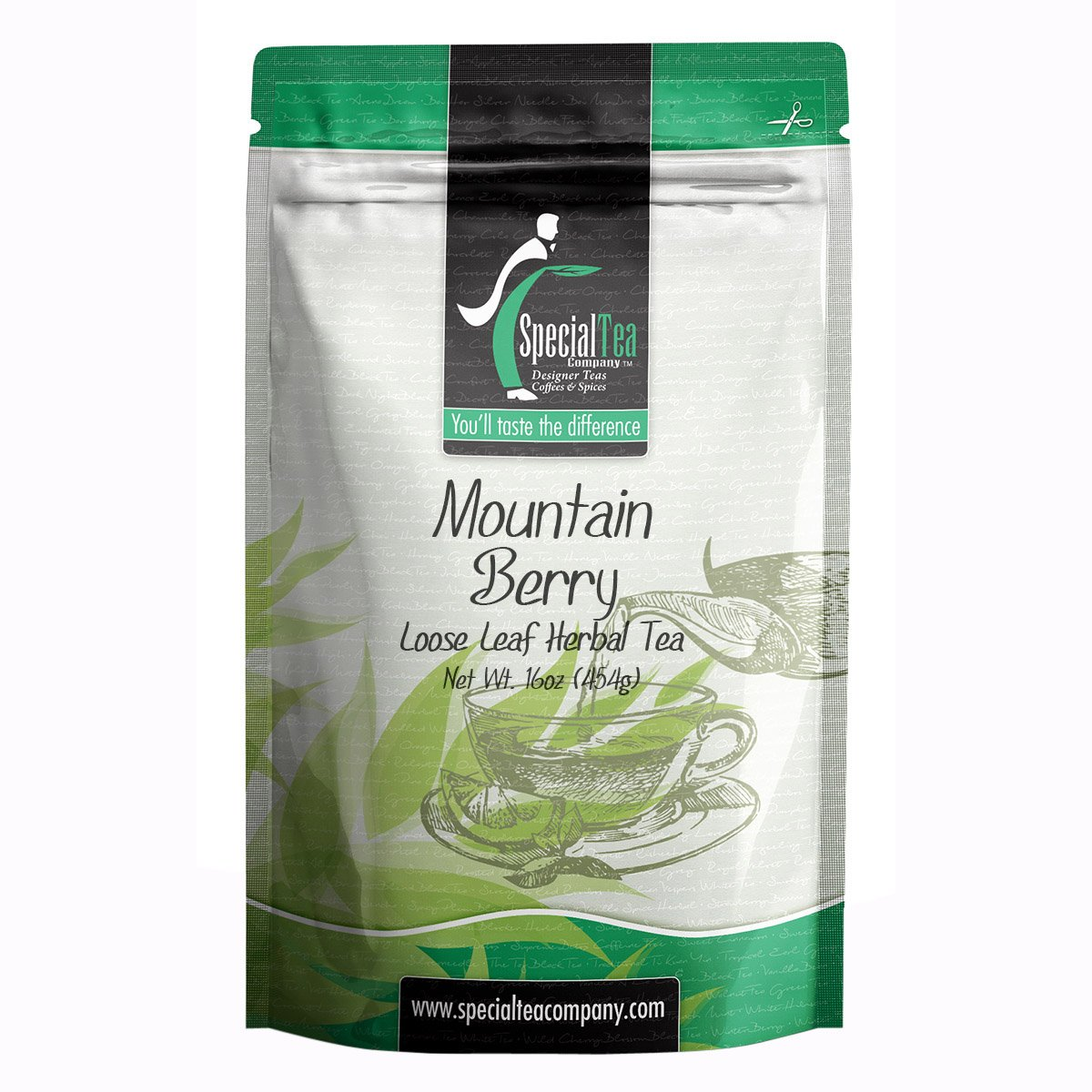 B0756RLV3Y Special Tea Company Mountain Berry Herbal Tea, Loose Leaf 16 oz. 71-99bX4UZL
