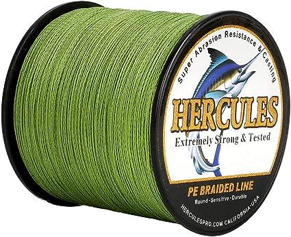 Hercules 4 8 9 12 Strands 6-300LB Super Braid Fishing Line Army Green 100-2000M