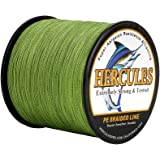 HERCULES Cost-Effective Super Strong 4 Strands Braided Fishing Line 6LB to 100LB Test for Salt-Water, 109/328 / 547/1094 Yard