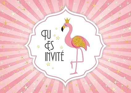 Ultra Edition Colibri 10 Invitations en Français Flamant Rose: Lot de 10 WS-46