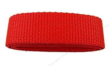 kraftz® rojo polipropileno cincha correa 25 mm x 2 m multiusos cinta para DIY Craft cinturón mochila banderines de delantal de flejado: Amazon.es: Hogar
