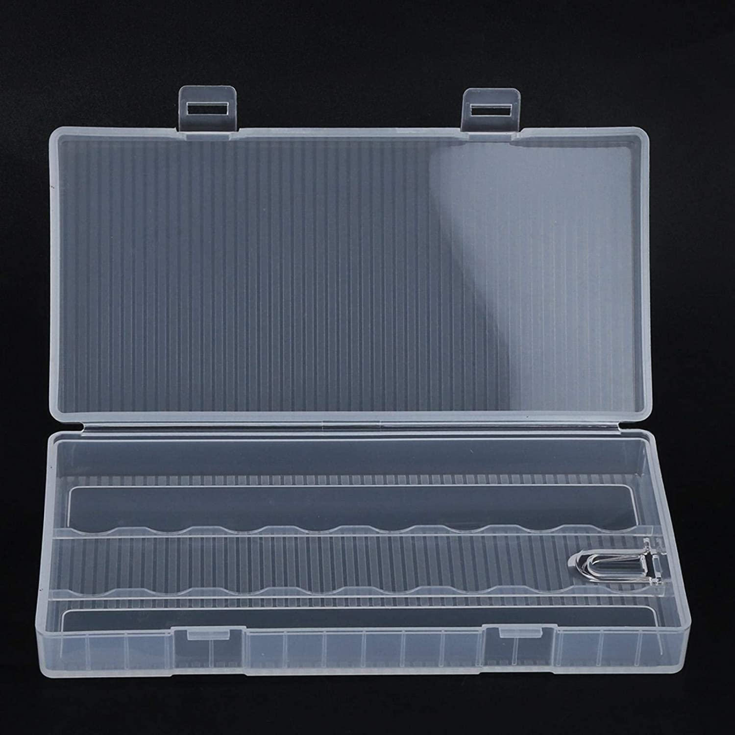 Portable Transparent PP Case Storage Box Container with Hook for 18650 Battery Heaveant Battery Storage Box