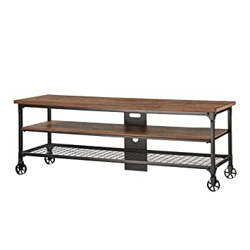 Amazon Com Nelson Industrial Modern Rustic Console Sofa Table Tv