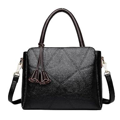 Handtaschen Mutter Tasche Schultertasche Messenger Tasche Mode Wilde Stich Handtasche Einfache Freizeit,Copper-OneSize GKKXUE