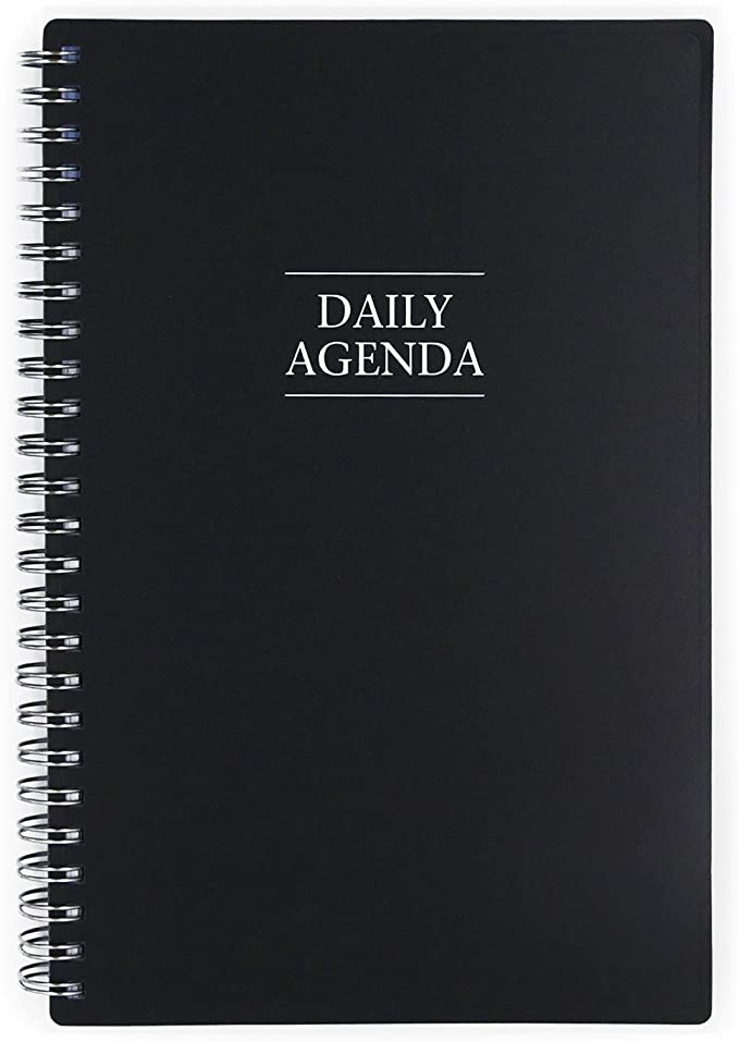 5.5 x 8.5 Twin-Wire Binding Passages Flexible Cover Blue Sky Undated Daily Planner