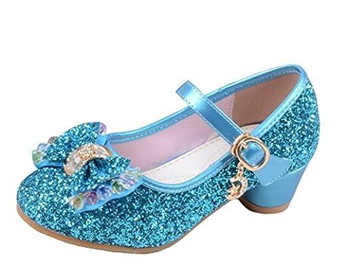 50f335db YOGLY Niñas Zapatos de Tacon de Lentejuelas Disfraz de Princesa Niña  Zapatilla de Baile: Amazon.es: Zapatos y complementos