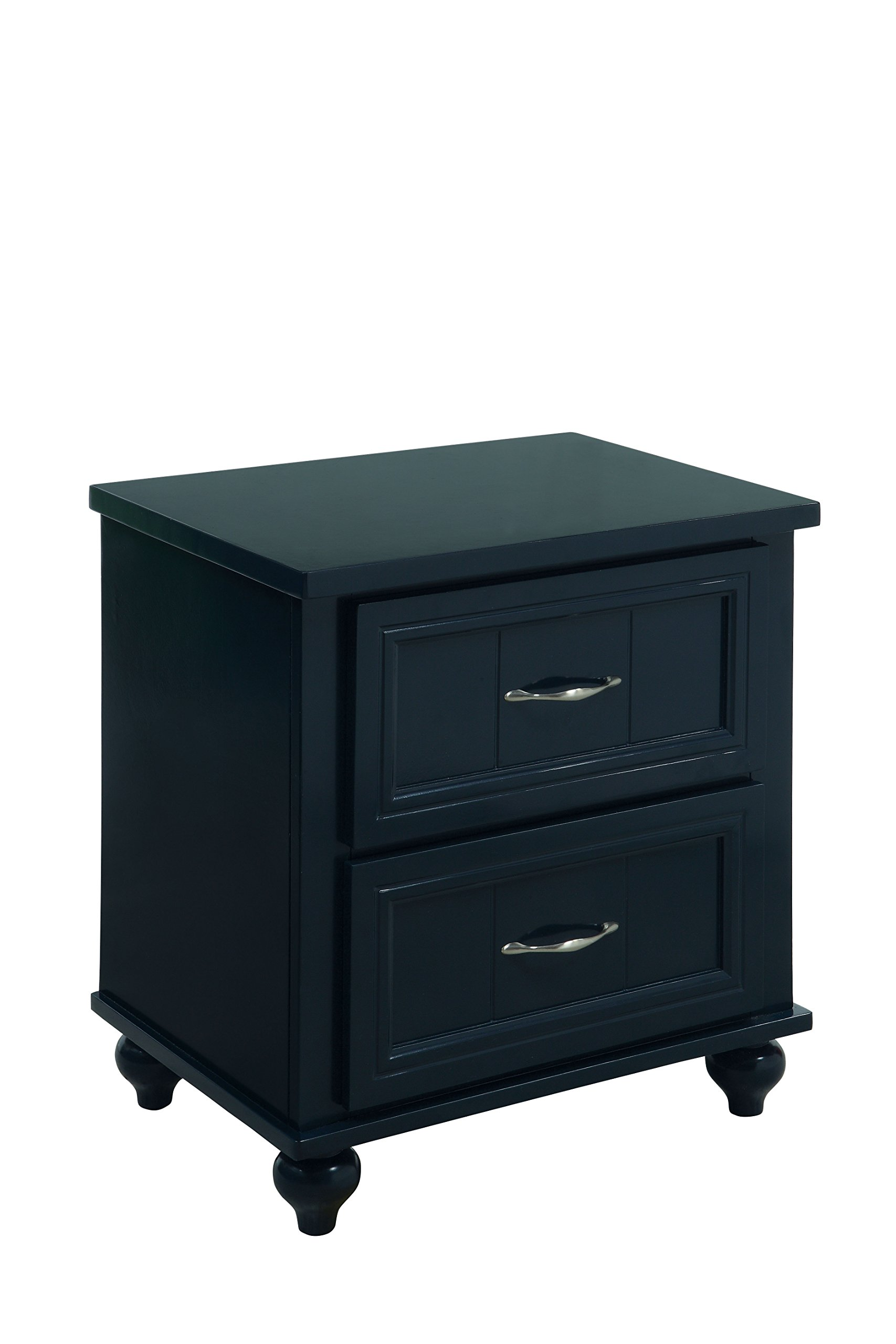 HOMES: Inside + Out Felix Transitional 2-Drawer Nightstandvy Blue