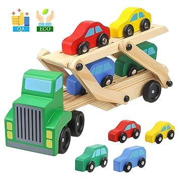 a264454ca848c TWONE 木のおもちゃ 木製おもちゃ 知育玩具 汽車セット トラック 男の子 クリスマスプレゼント 誕生日