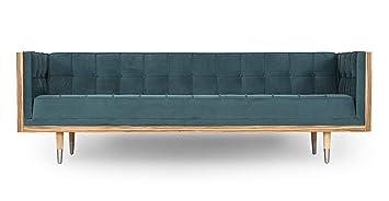 Astounding Kardiel Woodrow Midcentury Modern Box 87 Sofa Neptune Velvet Zebrawood Ibusinesslaw Wood Chair Design Ideas Ibusinesslaworg