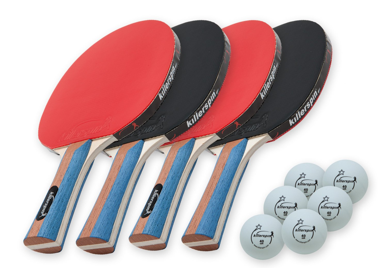 Amazon.com : Killerspin JETSET4 - Table Tennis Set with 4 Ping Pong ...
