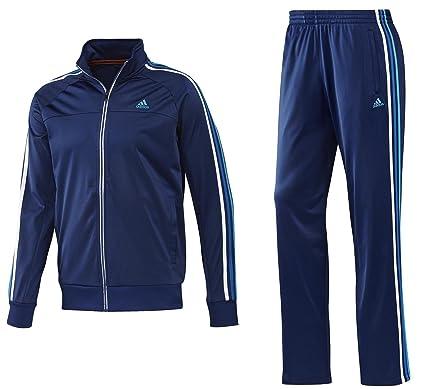 6de9b66ebdc6 adidas Legend Retro Night Blue Mens Full Zip Tracksuit Jacket Bottoms Pant  Running (X Small)  Amazon.co.uk  Clothing