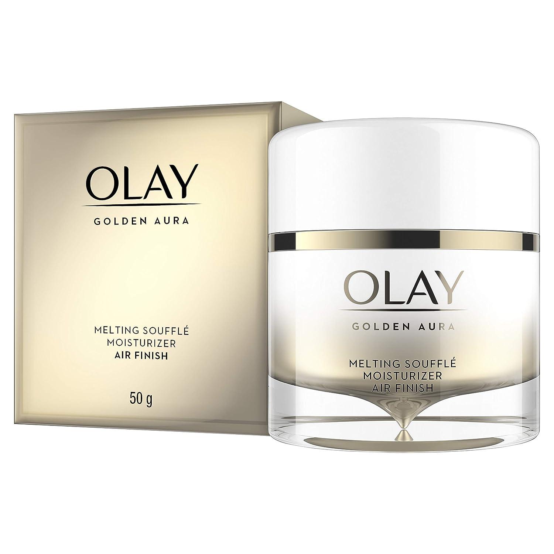 Face Moisturizer by Olay, Golden Aura Melting Soufflé Facial Cream, Air Finish with Vitamin B3, Firmer Skin in 5 Days, 1.7 oz