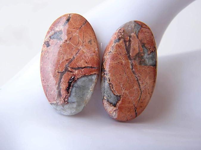Super Quality Maligano jasper Cabochons,3 Pcs Natural Maligano jasper Jewelry Making Loose Gemstone #SKU6482