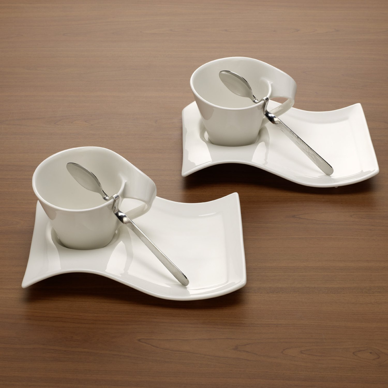 Villeroy Boch Wave amazon com villeroy and boch newwave 8 cappuccino set