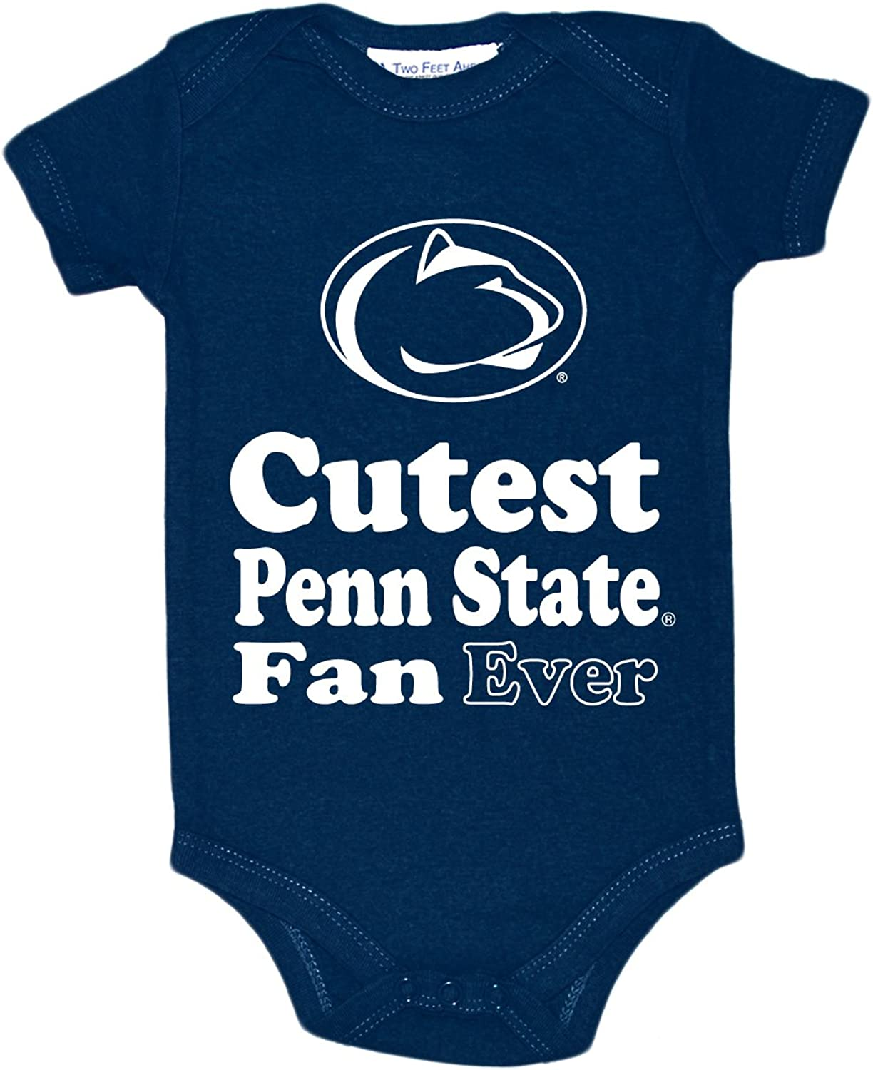 Two Feet Ahead NCAA Penn State Nittany Lions Children Unisex Lap Shoulder Creeper,12 mo,Navy