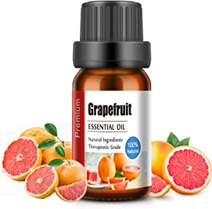 Grapefruit Essential Oil, Organic Pure Essential Oil for Diffuser, Humidifier, Aromatherapy, Home Fragrance, Relaxation, Cleaning-10ml