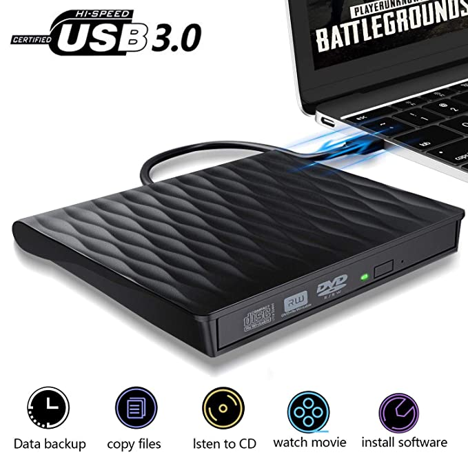 Amazon.com: ACETEND - Unidad externa de CD y DVD, USB 3.0 ...