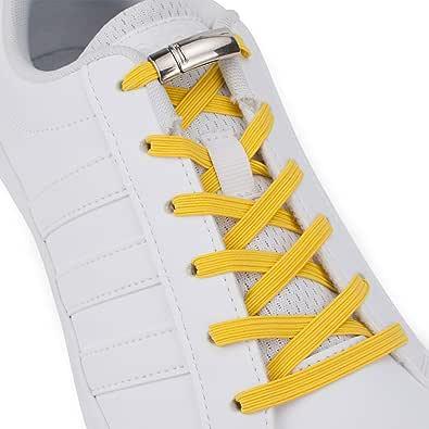 SULPO - Cordones elásticos de goma con cierre magnético de metal, sin atar, juego de cordones sin lazada, para todos los zapatos