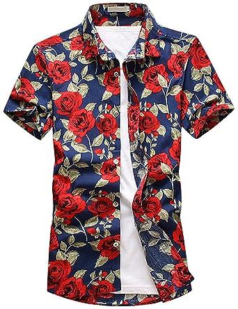 2f95d721d729 Pinkpum Funky Hawaiihemd Herren Kurzarm Hemd Strandhemd Urlaub Hemd  Freizeit Reise Hemd Party Hemd  Amazon.de  Bekleidung
